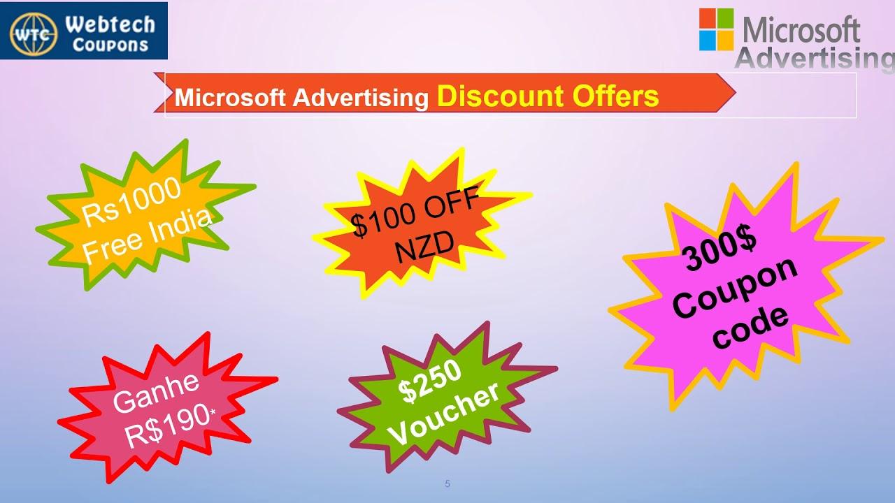 Microsoft Advertising Promo Code: Free Credit Ads $100, Coupon 2019