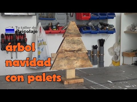 C mo hacer un sencillo rbol de navidad con palets youtube - Como hacer un arbol de navidad ...