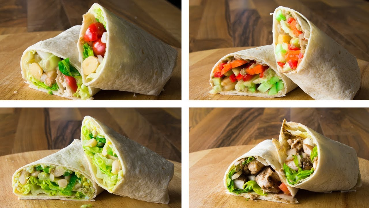 4 Healthy Tortilla Wraps Recipe Youtube