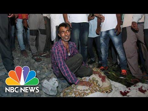 Dozens Killed By Speeding Train In Amritsar, India | NBC News