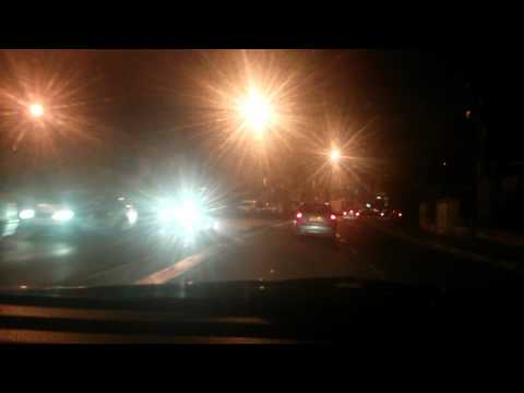 Night Drive through Jerusalem
