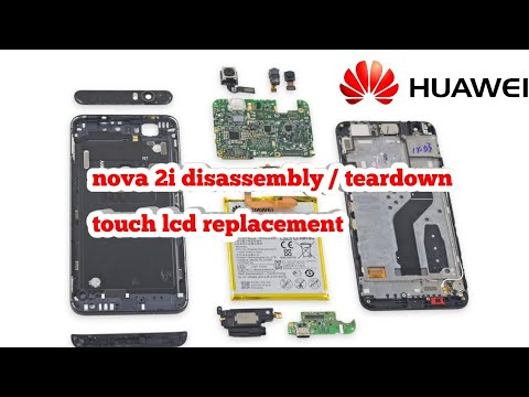 HUAWEI NOVA 2I TOUCH REPLACEMENT DISASSEMBLY /TEARDOWN (LCD DISPLAY CHANGE REPLACEMENT) RNE L22