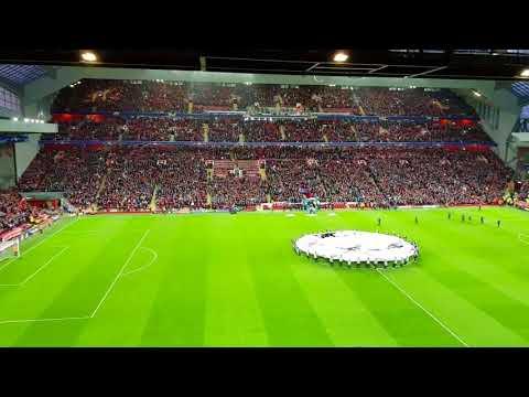 Liverpool fc  fans vs sevilla- champions leage. You will never walk alone