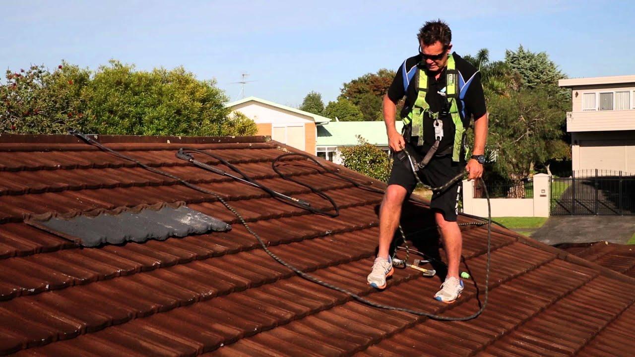 Decramastic Roof Waterblasting Dents Amp Leaks Step 1