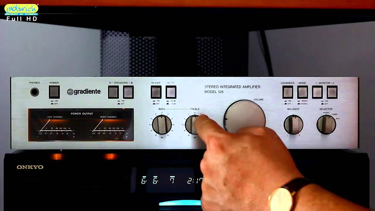 Amplificador Gradiente Model 126 -   Xiii