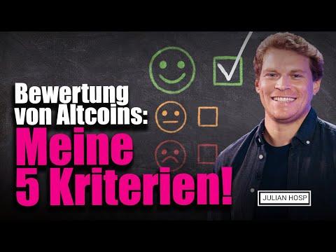 Bewertung von Altcoins: Meine 5 Kriterien!