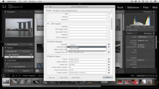 Adding Copyright and Contact Information to Photographs in Lightroom