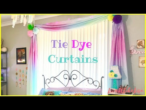TEEN GIRL BEDROOM SERIES | Tie Dye Curtains From Bed Sheets