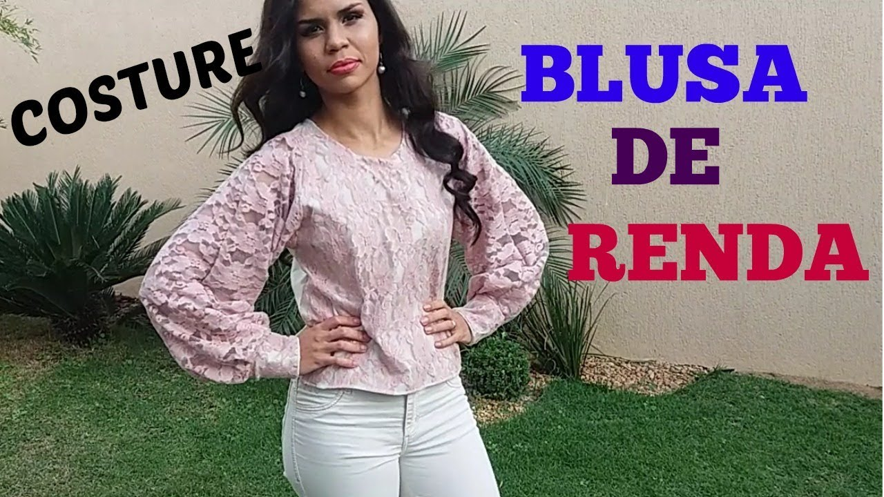 ca7583f249 BLUSA DE RENDA MANGA LONGA   VANESSA OLIVEIRA! - YouTube