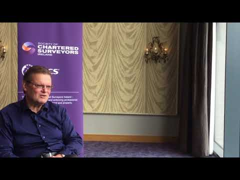 Speaker Antony Slumbers at the Survey, Innovation & Technology Roadshow
