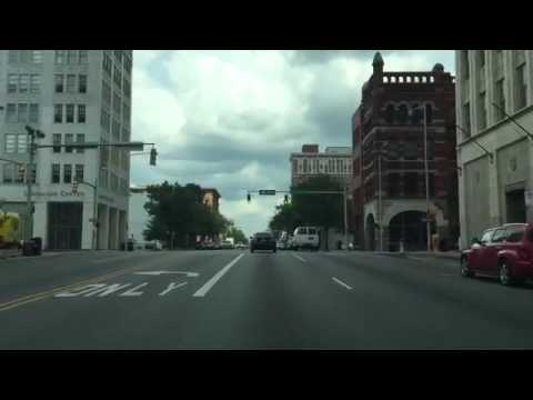 Driving Downtown Birmingham Alabama USA