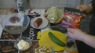 Салат из пекинской капусты и сухариков от многодетной мамы!