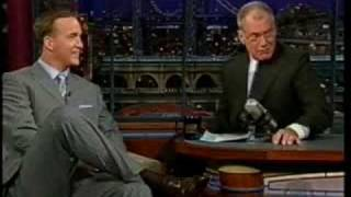 Peyton Manning Letterman Feb 2005 Part 1