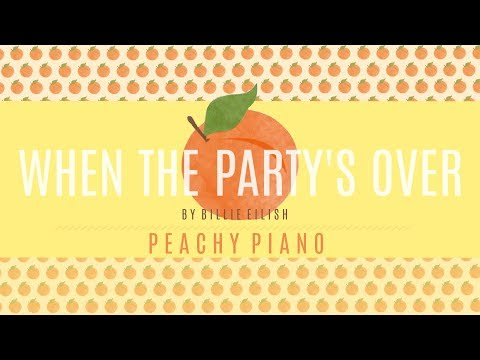 When The Party's Over - Billie Eilish   Piano Backing Track