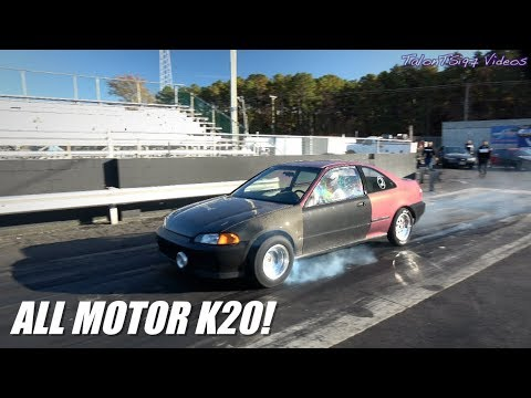 Stock K20 Civic Coupe Cracks 10s... ALL MOTOR