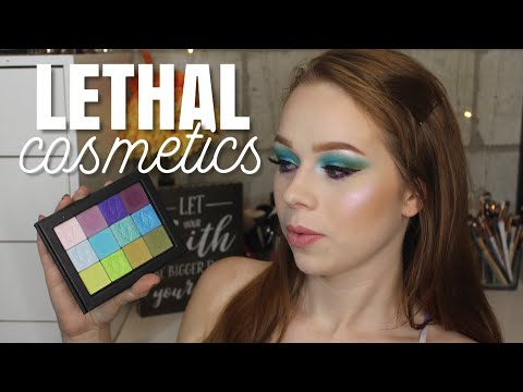 ea8e3ba9f8a Lethal Cosmetics Eyeshadows First Impression + Swatches - YouTube