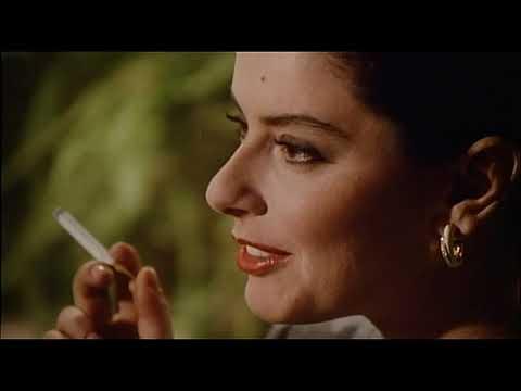 Monica Guerritore smoking cigarette