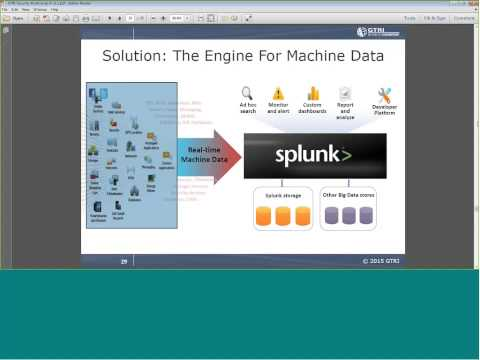 Splunk for Security Bootcamp January 21, 2015