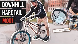 50 TRICKS CHALLENGE! + Downhill Hardtail Modification Bike