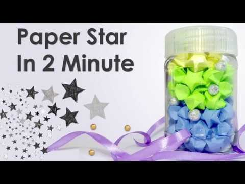 How to make Origami lucky paper stars | Easy DIY crafts tutorial