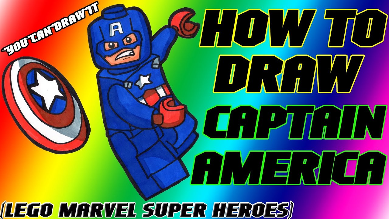 How To Draw Captain America From Lego Marvel Super Heroes