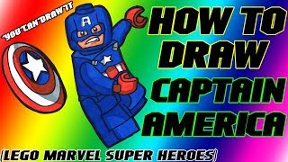 How To Draw Captain America from Lego Marvel Super Heroes ✎ YouCanDrawIt ツ 1080p HD