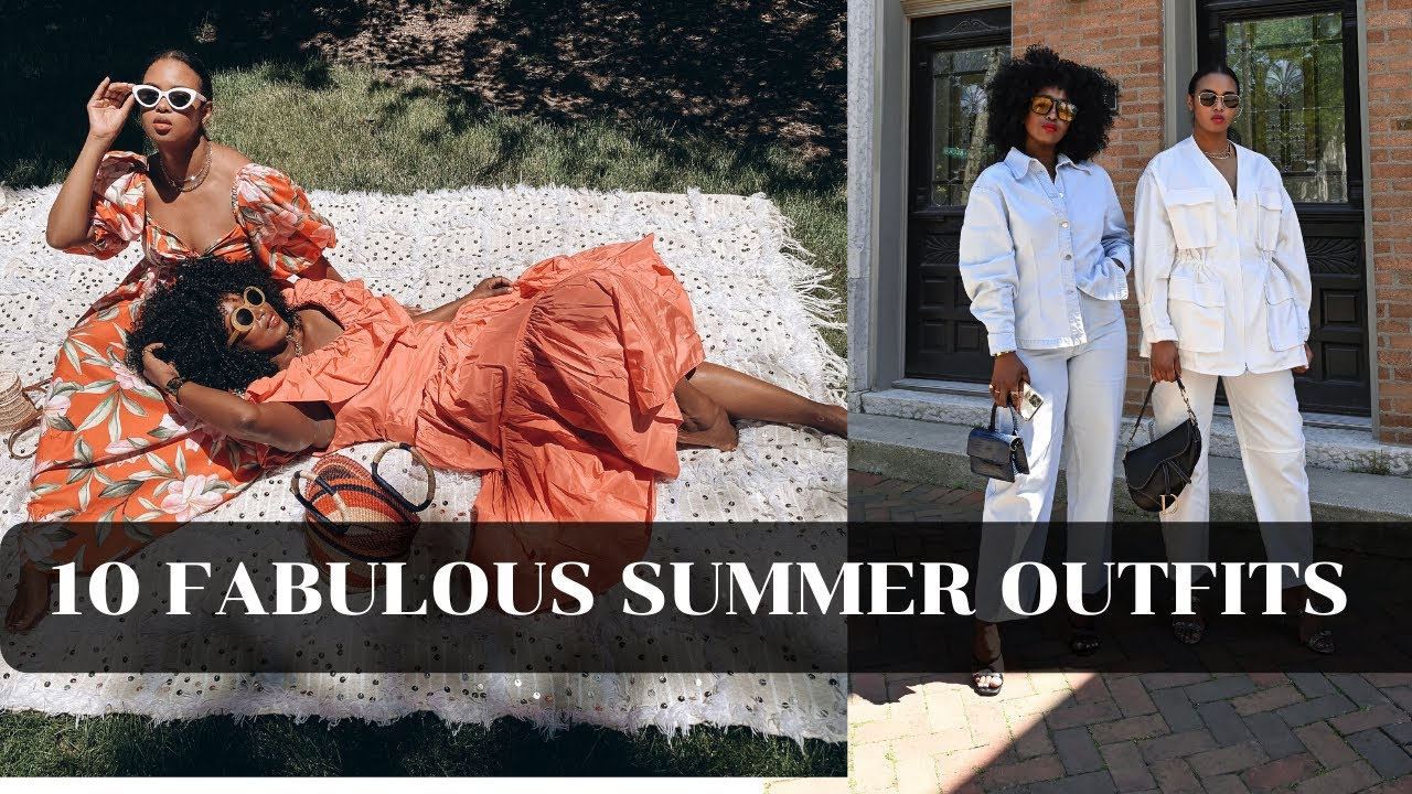 10 FABULOUS SUMMER OUTFITS 🌞 | SUMMER 2020 LOOKBOOK | THE YUSUFS