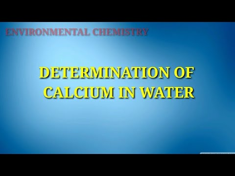 Determination Of Calcium In Water By Edta Titration || Analysis Of Water || Environmental Chemistry