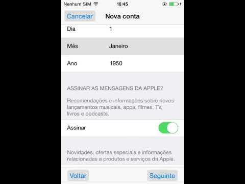 Criar Conta ID Apple Grátis Sem Add Cartão De Crédito