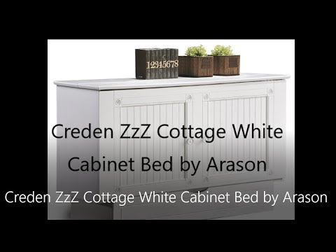 Creden ZzZ Cottage White Cabinet Bed by Arason - YouTube