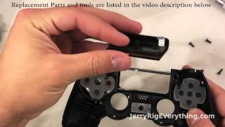 PS4 Controller Repair, Charging port fix, battery replacement. Complete Tear down. thumbnail