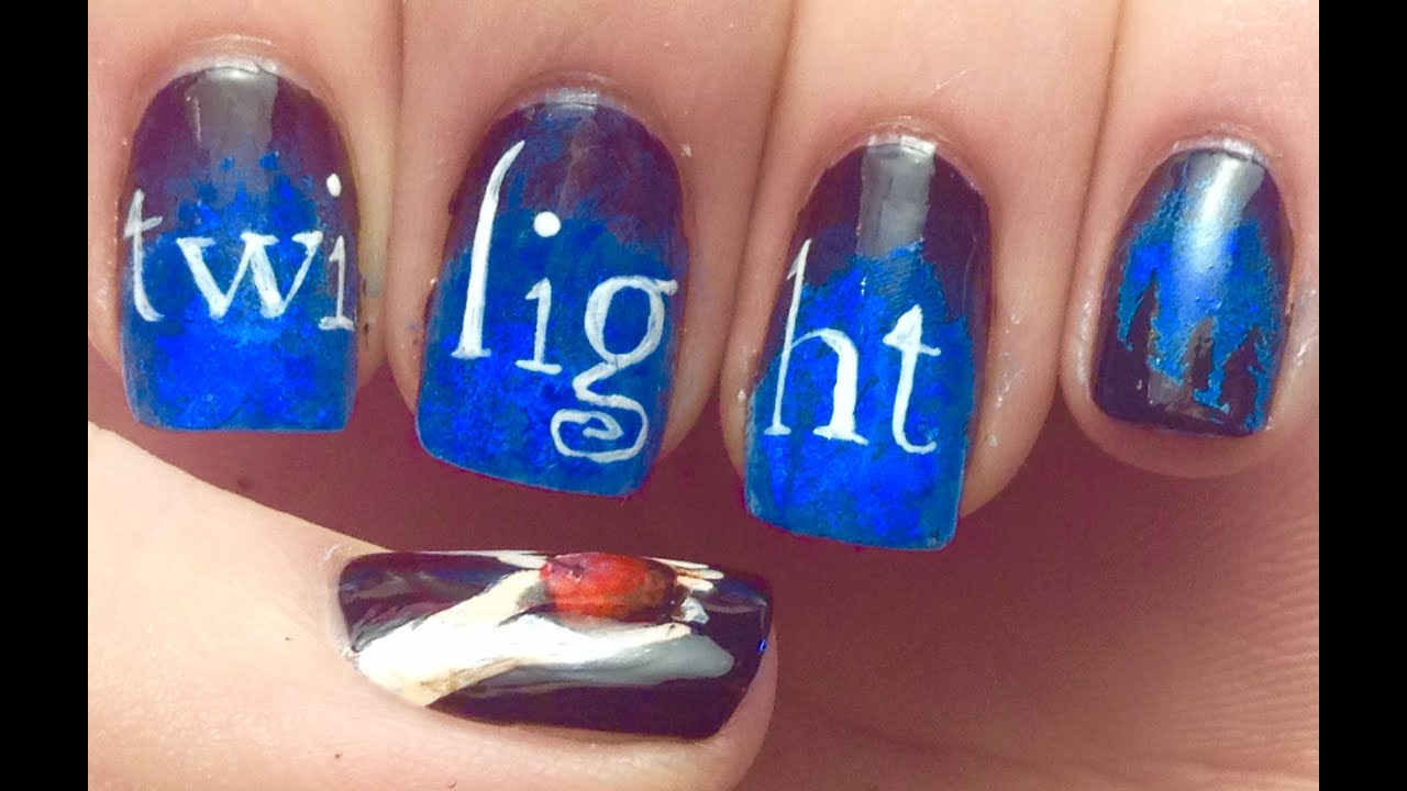Twilight nail art tutorial request youtube prinsesfo Gallery