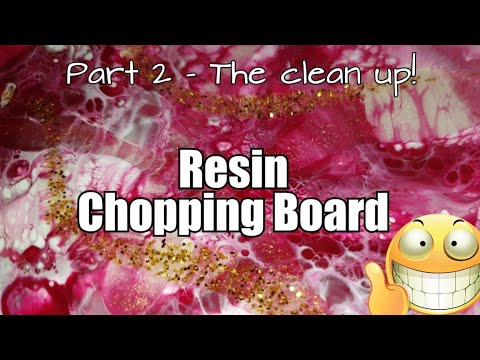 368 - From Video 364 / Resin Art on a Chopping Board