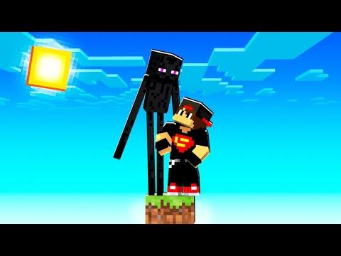 ماين كرافت بلوك واحد : اكتشفت جزيرة جديدة - طلع لي اندرمان | Minecraft !! 😱🔥