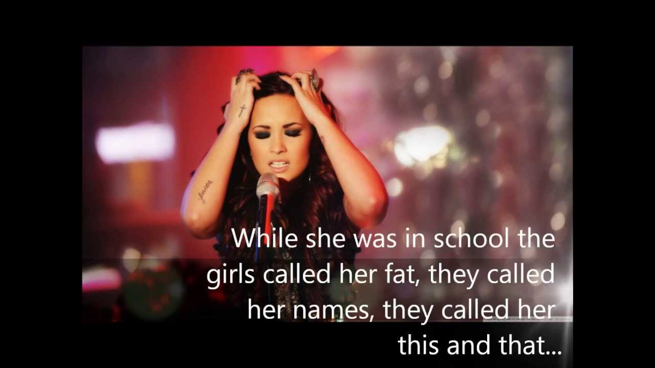 Demi lovato bullying story in words youtube voltagebd Gallery