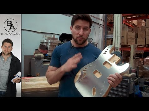 Making an ALUMINUM Guitar Top! (And MORE)   Stratocaster Guitar Kit Build