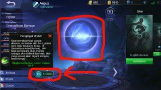 Cara agar munculkan unduhan untuk mengembalikan  hero mobile legends yg tanda tanya/eror agar normal