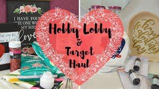Hobby Lobby Haul I Target Haul I Valentine's day Haul #haul #hobbylobby #target
