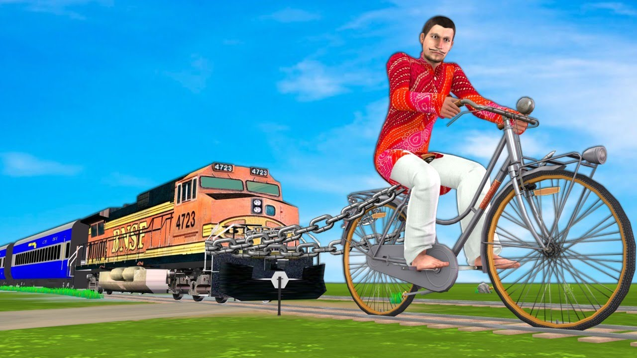 विशालकाय साइकिल आदमी GIANT CYCLE MAN Hindi Kahaniya Stories - Funny Hindi Comedy Video