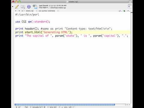 Printing HTML Using CGI