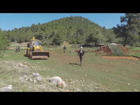 March Moto Madness Greece 2017 - Skills Track Prep TimeLapse