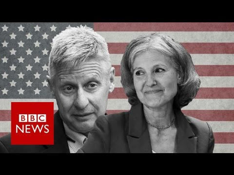 Gary Johnson and Jill Stein: Will third party candidates decide US election? BBC News