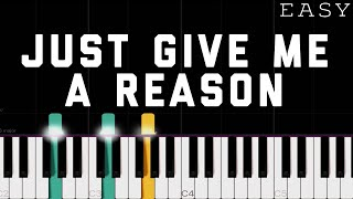 P!nk - Just Give Me A Reason (ft. Nate Ruess) | EASY Piano Tutorial