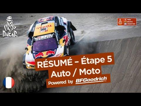 Résumé - Auto/Moto - Étape 5 (San Juan de Marcona / Arequipa) - Dakar 2018