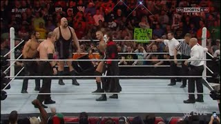 Sting save Randy Orton from the attack of the Authority; Raw 16 March 2015
