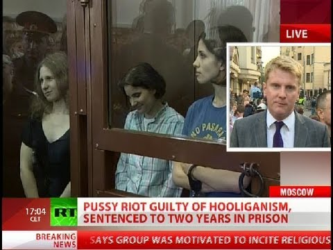 Pussy Riot guilty of hooliganism, sentenced to two years in prison