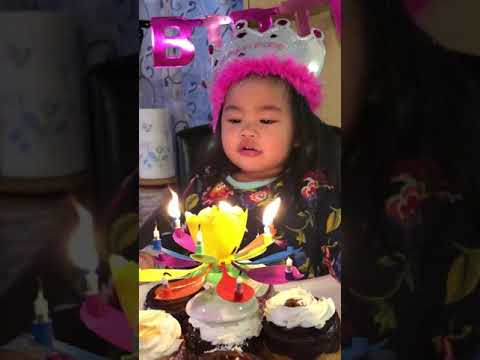 Lorena's 2nd birthday. Spinning candles is cool. 😀