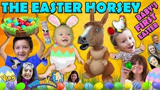 Baby Shawn's First Easter Vacation Surprise Egg and Hunt The Easter Horsey FUNnel Family Vlog