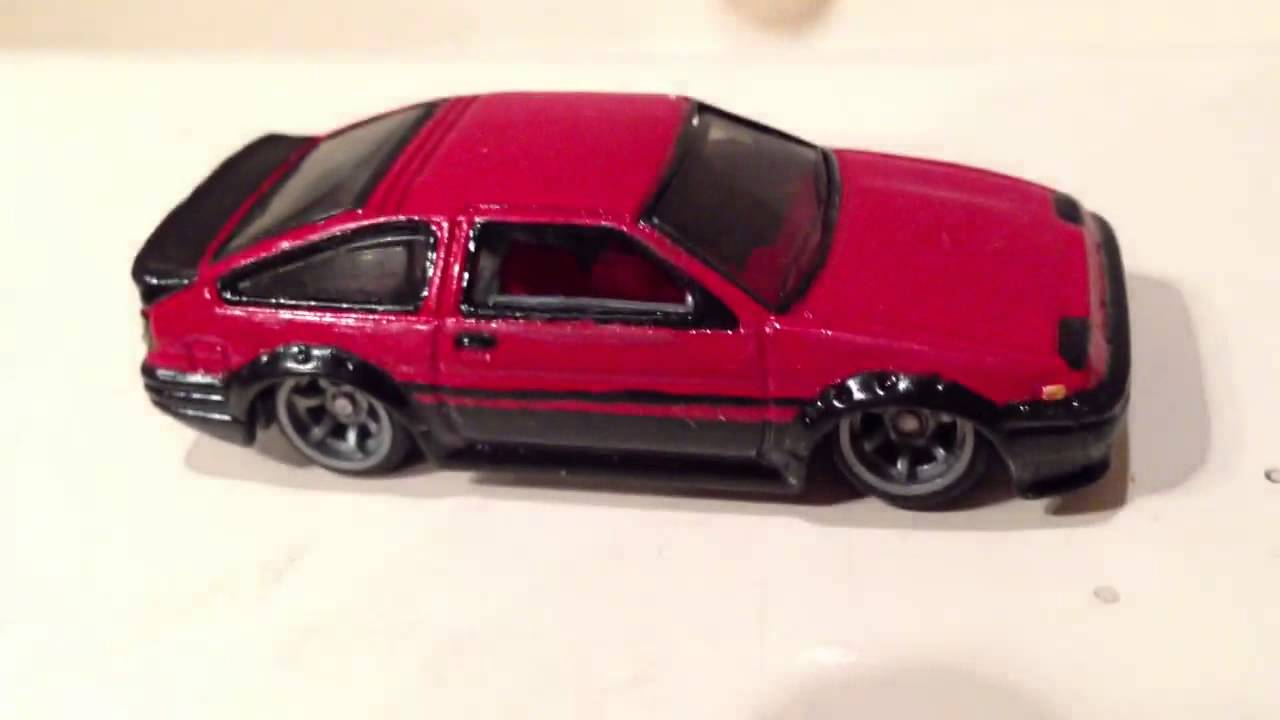 Custom Hot Wheels Mrsenctvts Amazing Customs Youtube Hotwheels Toyota Ae 86 Corolla Red