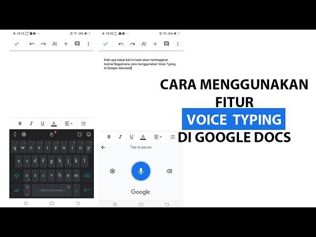 Cara Menggunakan Fitur Voice Typing di Google Docs